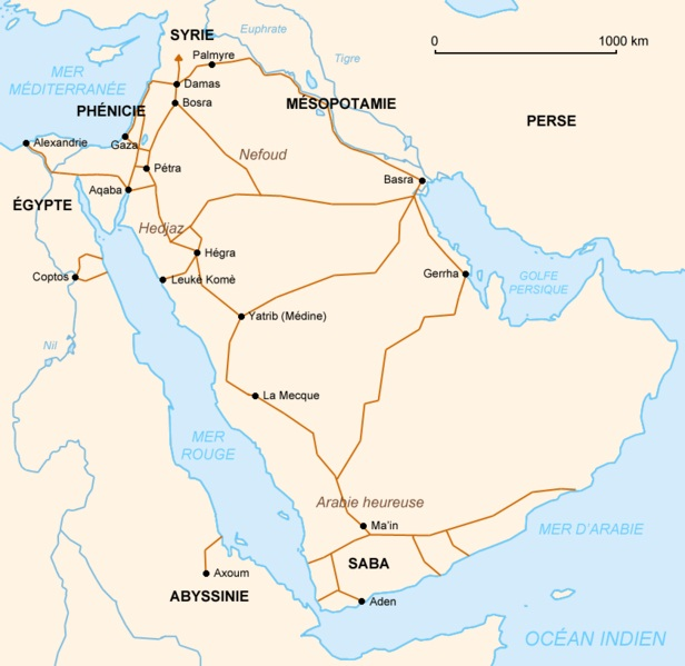 Pre Islamic Arabia: Nabateens Trade Routes